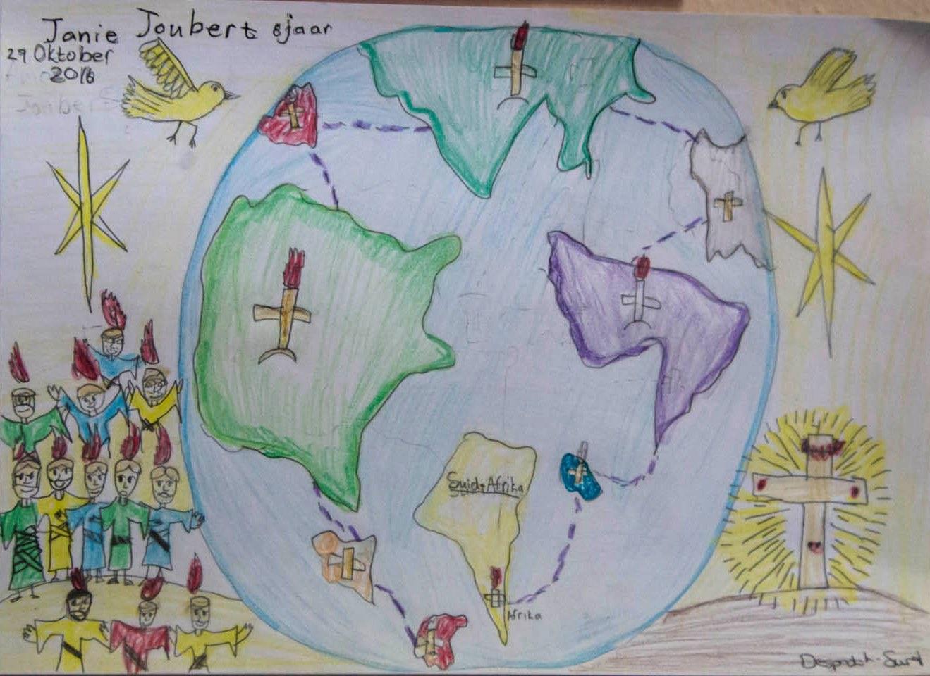Janie Joubert (8) van Despatch se interpretasie van Handelinge 1:8.
