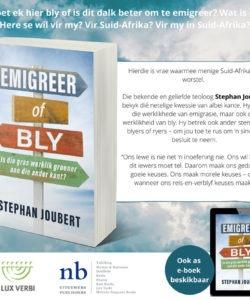 Bly of gly? Skrywer gesels oor etiek van emigrasie-besluit